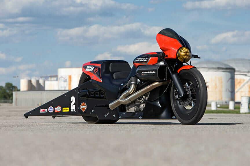 Harley-Davidson Street-Rod NHRA Pro Stock Motorcycle